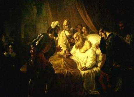 Image result for the death of leonardo da vinci
